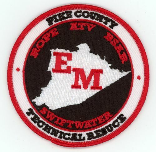 PIKE COUNTY KENTUCKY SWIFT WATER TECHNICAL RESCUE NEW PATCH FIRE POLICE SHERIFF