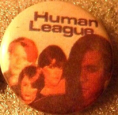 """HUMAN LEAGUE ,x 2 , Vintage"""" 1970's -1980's Button/Badge 1 """""""