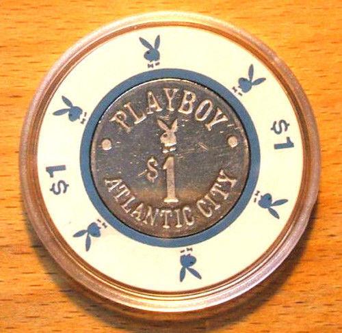 $1. PLAYBOY CASINO CHIP - 1981 - ATLANTIC CITY, New Jersey - Bud Jones Mold