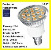 Leuchtmittel LED Reflektor E14 3W