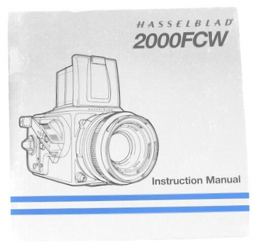 Hasselblad 2000FCW Instruction Manual
