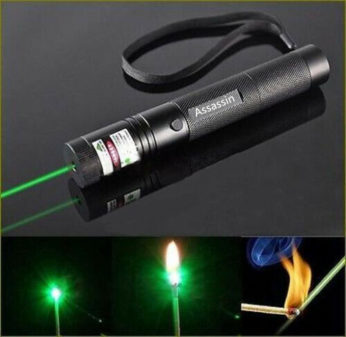 Assassin 500 Miles Green Laser Pointer Pen Visible Bright 532nm Astronomy Lazer