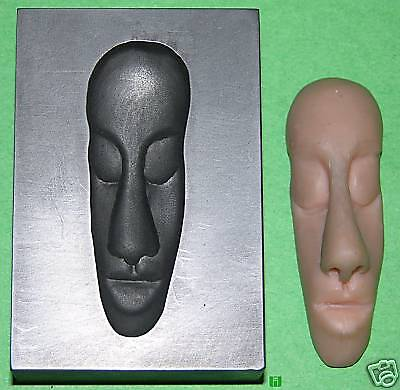Tribal Face Graphite Glass Lampwork Push Mold