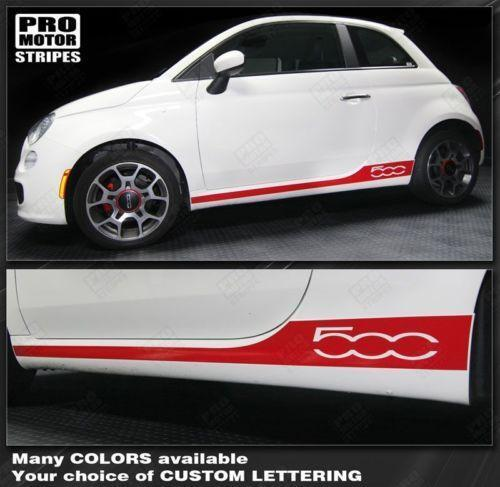Fiat 500 Stripes Graphics Decals Ebay