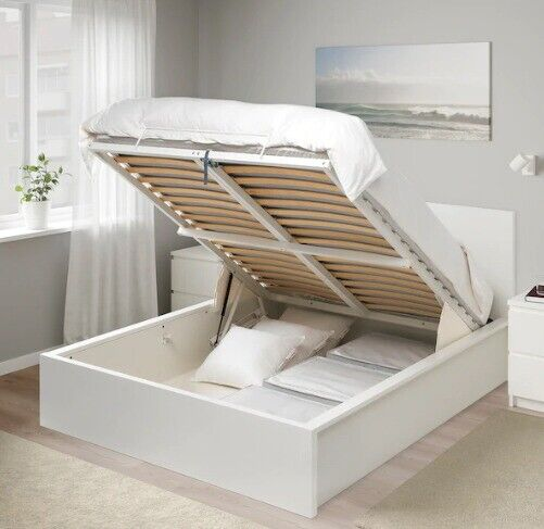 Incredible Ikea Malm Ottoman Bed White Standard King In Hackney London Gumtree Gmtry Best Dining Table And Chair Ideas Images Gmtryco