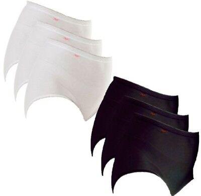 rbig schwarz und weiß Maxi Baumwollslip UK Größe 12-22 (Einfarbig Schwarz Und Weiß)
