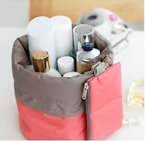Barrel-Shaped-Travel-Makeup-Bag-High-Capacity-Drawstring-Cosmetic-Organizer-Bag