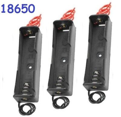3x Battery Holder Case Clip Box for Single 18650 3.7V Li-Ion Battery - US Seller