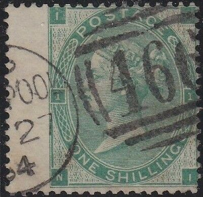 SG 89 1/- Deep Green wing margin Position NI, VFU condition dated Liverpool CDS.