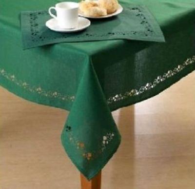 St. Patrick's Day Cutwork Tablecloth Swirling Shamrocks Decoration Asst. Sizes
