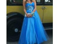 Detailed blue prom dress size 8/10