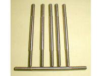 "1//32 Cox #9909 FOUR 1 1//2/"" Ground steel slot car axles 5-40 thread NOS LOOSE OK"