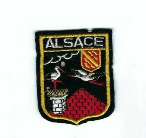 Travel Souvenir Patch Alsace 2in x 2 3/8in France