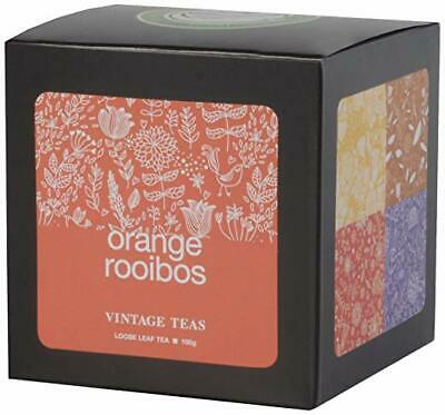 Vintage Teas Rotbuschtee mit Orange Kubik Karton 3er Pack 3x 100 g...