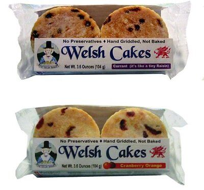 8 Hand Griddled Welsh Cakes - 2 Flavor Variety Pack - Ships for Free!