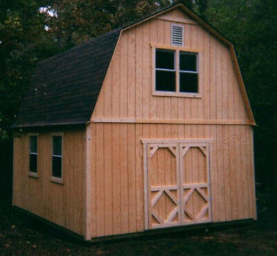 16X16 Two Story Barn Style Shed Plans