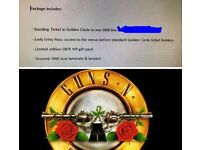 VIP Gold Circle with Early Entry Guns n Roses Tickets 16 June 2017 Olympic Park London