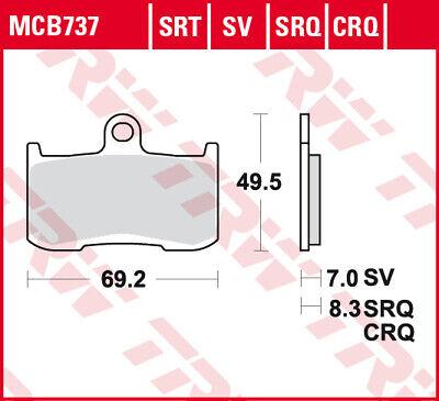 TRW RQ   HYPER CARBON RACING BRAKE PADS MCB737CRQ