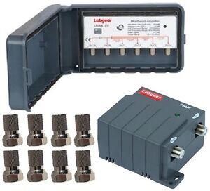 LABGEAR Masthead TV Aerial Signal Amplifier Booster - 4way