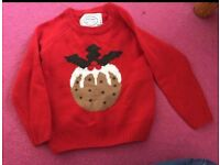 Christmas jumper Age 4-5 worn once