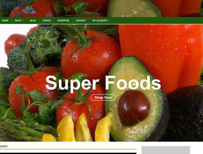 Super Foods Website With Video Blog Socialseo - Work From Home