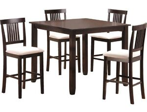 9 Pc. Pub-Style Height Dining Set