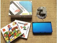 Nintendo 3DS XL console [BOXED w/ charger & GAMES]