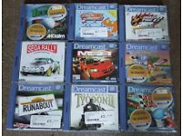 SEGA DREAMCAST - I am looking for games, a console, and any accessories.