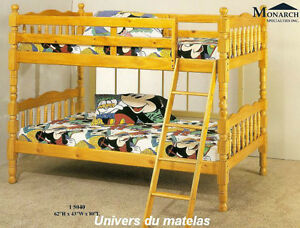 lit superpose lit et matelas dans grand montr al petites annonces class es de kijiji. Black Bedroom Furniture Sets. Home Design Ideas