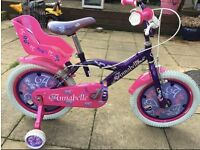 Girls Bike Annabelle Outdoor 16 Inch Pink And Purple Frame