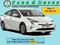 Uber Ready New Prius Active ****Rent-2-Buy****from £117 p/w