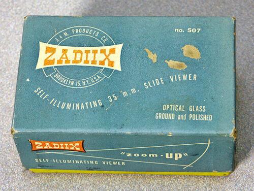 ZADIIX NO. 507 SELF-ILLUMINATING 35MM SLIDE VIEWER