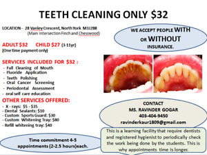 AFFORDABLE TEETH CLEANING $32