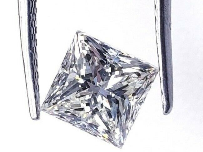 1/2 CT Princess Cut J Color VVS1 Clarity Natural Loose Diamond GIA Certified