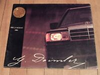 "( 2-Brochures""1986 Mercedes-Benz 300-Series&190E"" )"