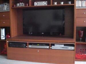 Ikea Bonde shelving unit with TV bench