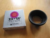 B&W rubber lens hood (37mm)