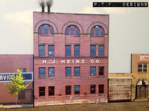 "S Scale Scratch Built ""The Heinz Factory"" Pittsburgh Building Flat/Front 1/64"