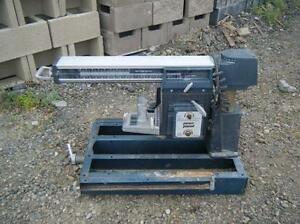 """professional 10"""" radial arm saw with bench grinder may trade"""