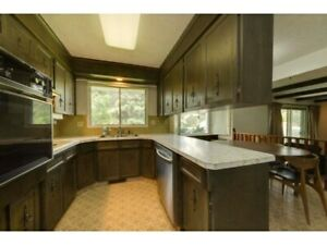 Solid wood kitchen cabinets, oven, cooktop, garborator,