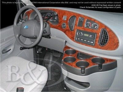 Dash Trim Kit for FORD E-SERIES/ECONOLINE 97 98 99 carbon fiber wood aluminum Serie Dash Kit