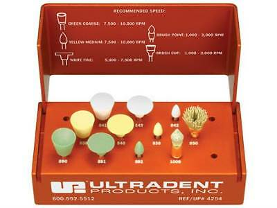 Dental Ultradent Jiffy Polisher Kit Abrasive Silicon Rubber Contouring Finishing