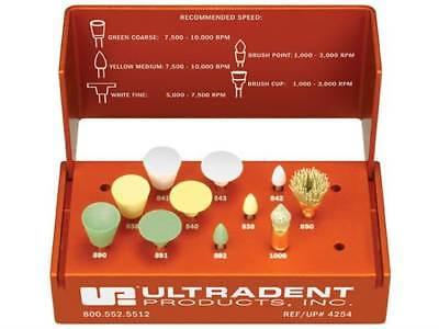 Dental Ultradent Jiffy Polisher Kit Abrasive Silicon Rubber Contouring Finishing