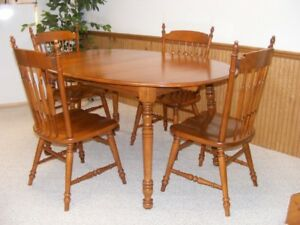 Price Reduced Solid Maple Dining Table Set