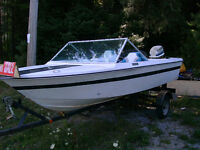 the boat is free,motor is $500,trailer is $250.00