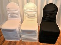 FOR RENT STRETCH CHAIR COVERS STARTING @ $1 EACH