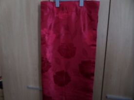 Lovely Pair of Red Curtains