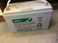 Lucas VRLA/AGM Standby & Cyclic Mobility Equipment Battery 12V 125AH