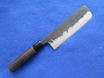 Japanese Super Blue Steel Double Beveled Usuba Vegetable  Knife 165Mm By Tomita