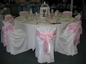 Wedding white Chair Covers great buy fits all chairs & Used Wedding Chair Covers   eBay